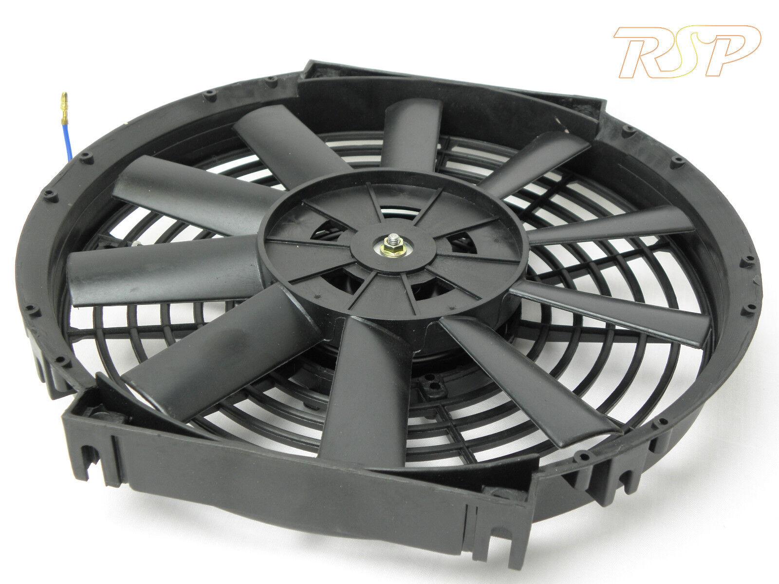 V In Line Fans : Quot v universal electric slim line cooling radiator fan