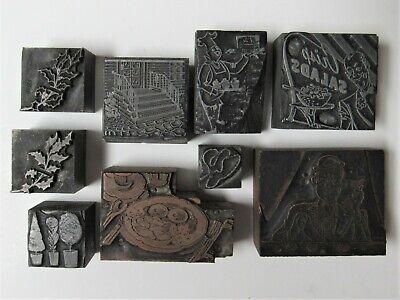 10 Vintage Metal Printing Letterpress Printers Printing Blocks