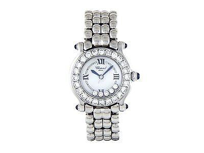 Chopard Happy Ladies Diamond Watch with Custom Bezel