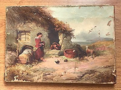 RESTORATION Antique Oil Painting On Canvas This Artist Sold On Christies Signed