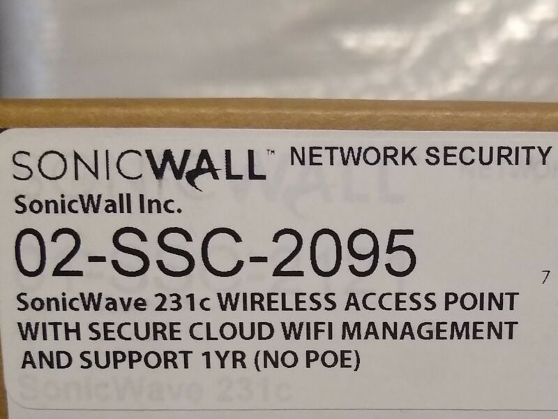 SonicWall SonicWave 231c 02-SSC-2095 Sealed in Box