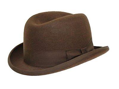braun 100% Wolle Hohe Qualität Hart TOP Churchill - Qualität Top Filzhut