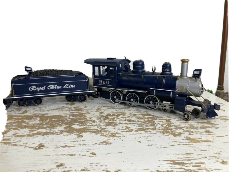 Video Below! Bachmann Big Hauler Royal Blue G scale Train Runs Needs Some Love!