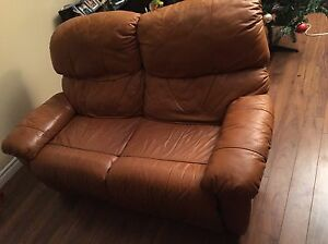 Couch with recliner