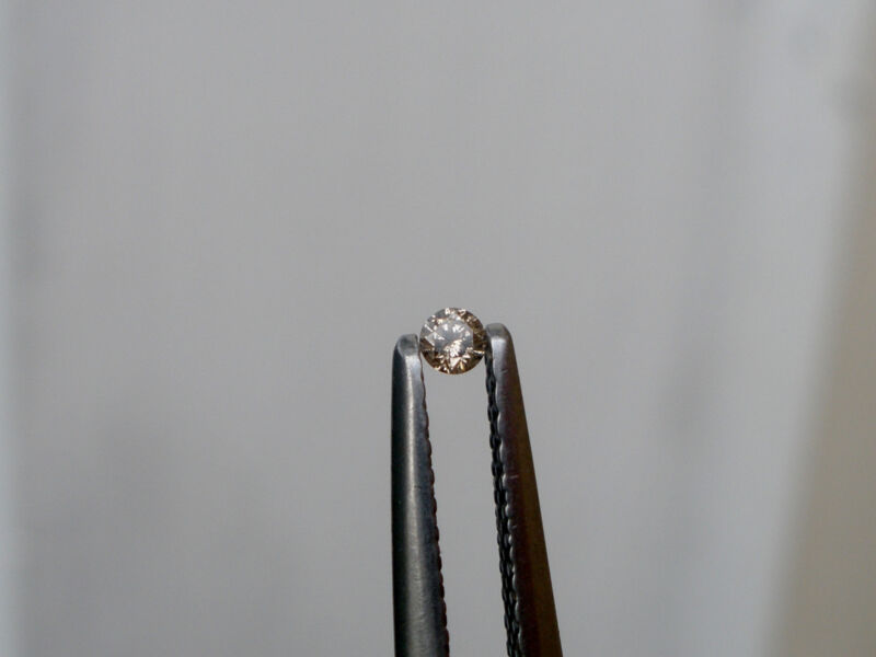 2mm champagne natural diamond loose faceted round