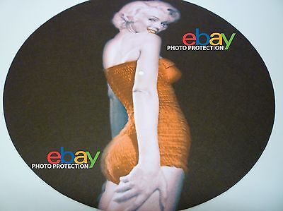 "Limited Edition MARILYN MONROE 7"" OR 12"" INCH Turntable / Platter MAT new RARE!"