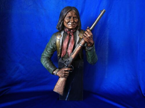 """C.A. Pardell Geronimo """" Rebellious"""" Statue orig.pking. $3500.00"""