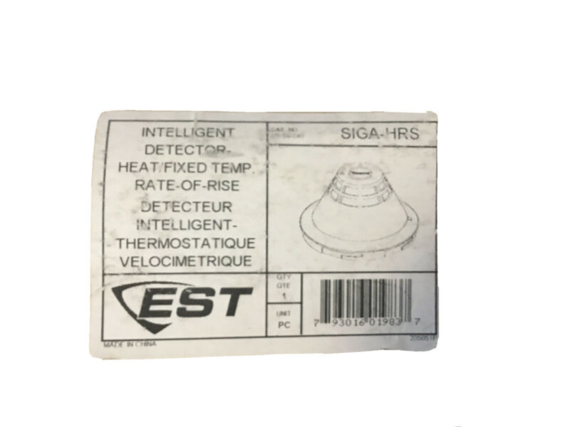 EST Intelligent Detector Heat/Fixed Temperature / Rate-of-Rise, SIGA-HRS (NEW)