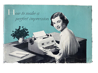 Vintage 1953 Ibm Electric Typewriter How To Make A Perfect Impression Booklet 53