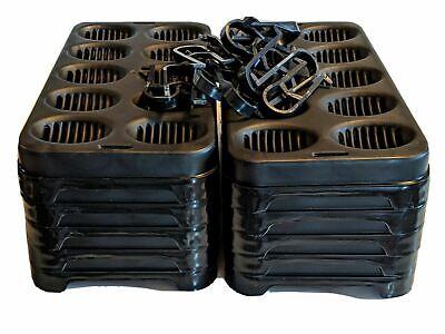 10 Pack Reptile Egg Incubation Tray Snake Lizard Ball Python Breeding Supplies