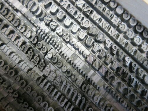 Letterpress Lead Type 24 Pt. Fortune (Fortuna) - Bauer Type Foundry   a15