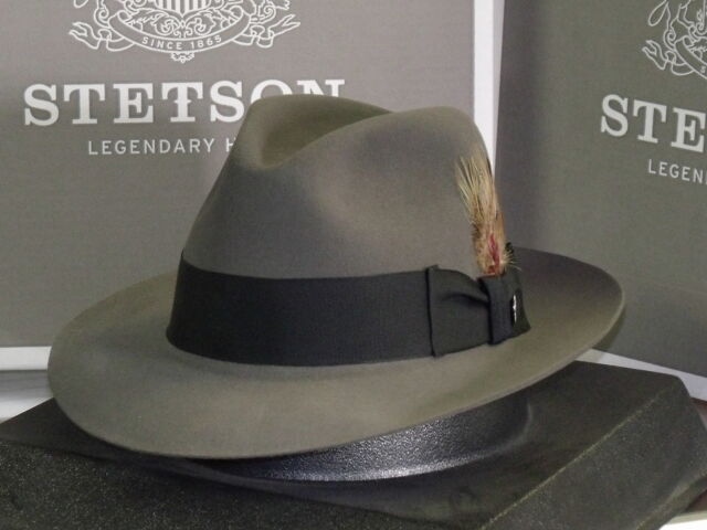 07ba9ca91055f0 ... australia legendary indiana jones stetson temple soft fur felt fedora  hat b1fac 704db