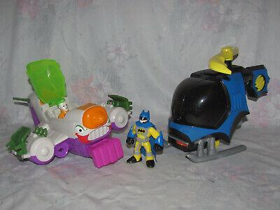 Fisher Price Imaginext Super Friends Joker Jet Plane, Batman Helicopter