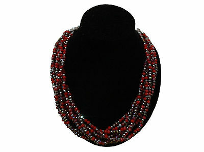 Handcrafted Moroccan african Imitation Crystal beaded necklace