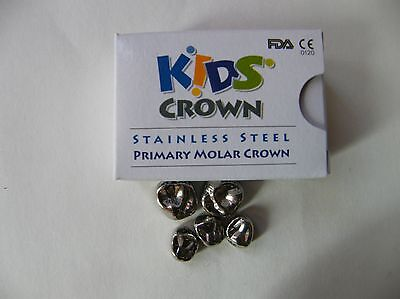 5pcs :Stainless Steel Primary Kids Crown Molar  3M Compatible(refill)