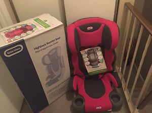 Brand new booster seats in the box! One out of box just to show