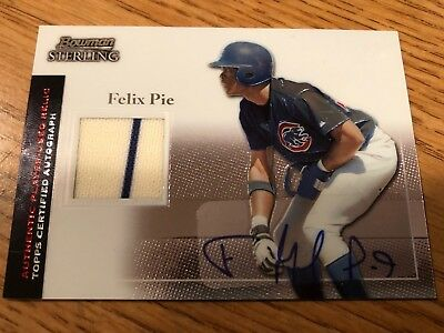 2004 Bowman Sterling Baseball - 2004 Bowman Sterling Baseball Card #BS-FP Felix Pie Authentic Player Used Relic