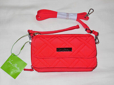 All In One Phone (NWT Vera Bradley ALL IN ONE CROSSBODY & Wristlet in CANYON SUNSET wallet phone )