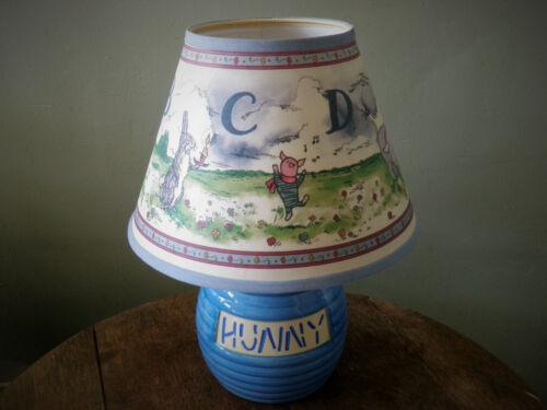 Winnie The Pooh Blue Hunny Pot Nursery Lamp w Shade -  2 Available