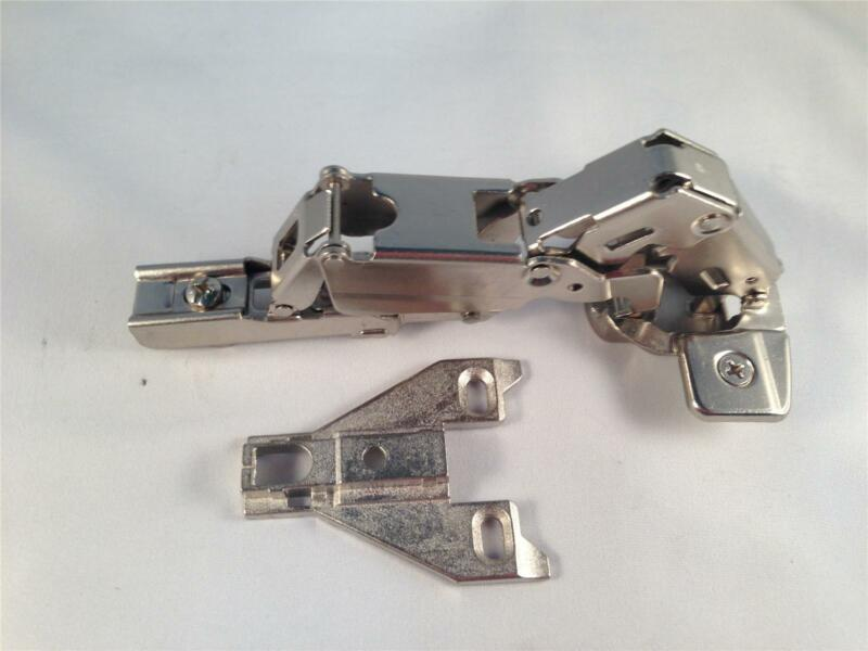 Pair/Two Hinges 165 Degree Opening Kitchen Cabinet Hinge + Face Frame Plate