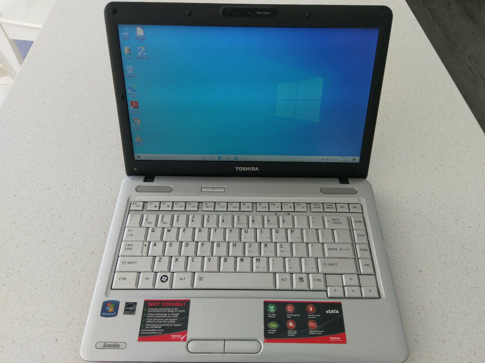 Laptop Windows - Toshiba Satellite L510 Laptop - Core 2 Duo T9300, 4GB RAM, 240GB SSD, Windows 10