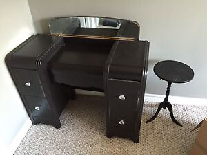 Dressing table and mirror, wardrobe and dresser