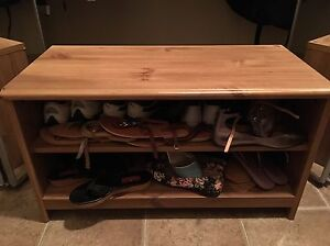 Gorgeous Wood Shoe Rack/Bench