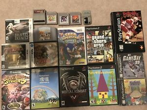 Tons of video game stuff new and old
