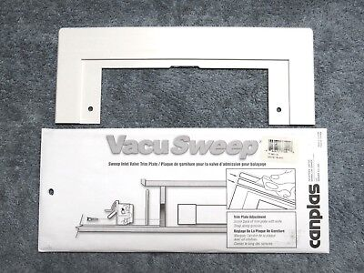 White VacuSweep Trim Plate for Central Vacuum