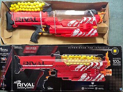 NEW IOB Hasbro Nerf Rival Nemesis MXVII-10K Motorized Blaster Gun Red