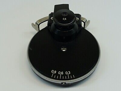 Zeiss Axioskop Microscope 0.9 Phase Condenser With Ph1 Ph2 Ph3 H Pn 445236