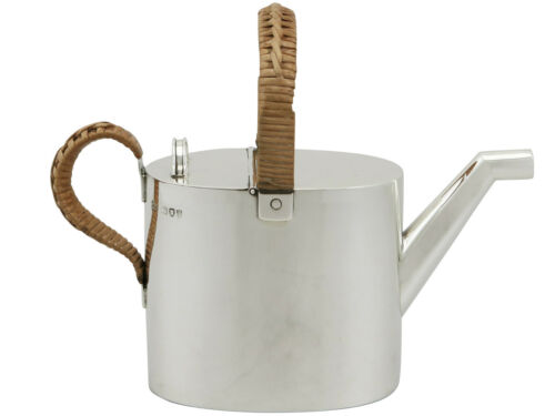 Antique 1890s Victorian Sterling Silver Watering Can