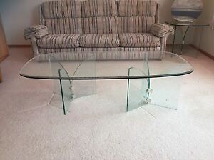Glass coffee and 2 end tables