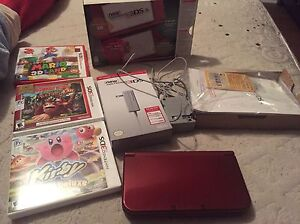 New nintendo 3DS XL with 3 games and charger