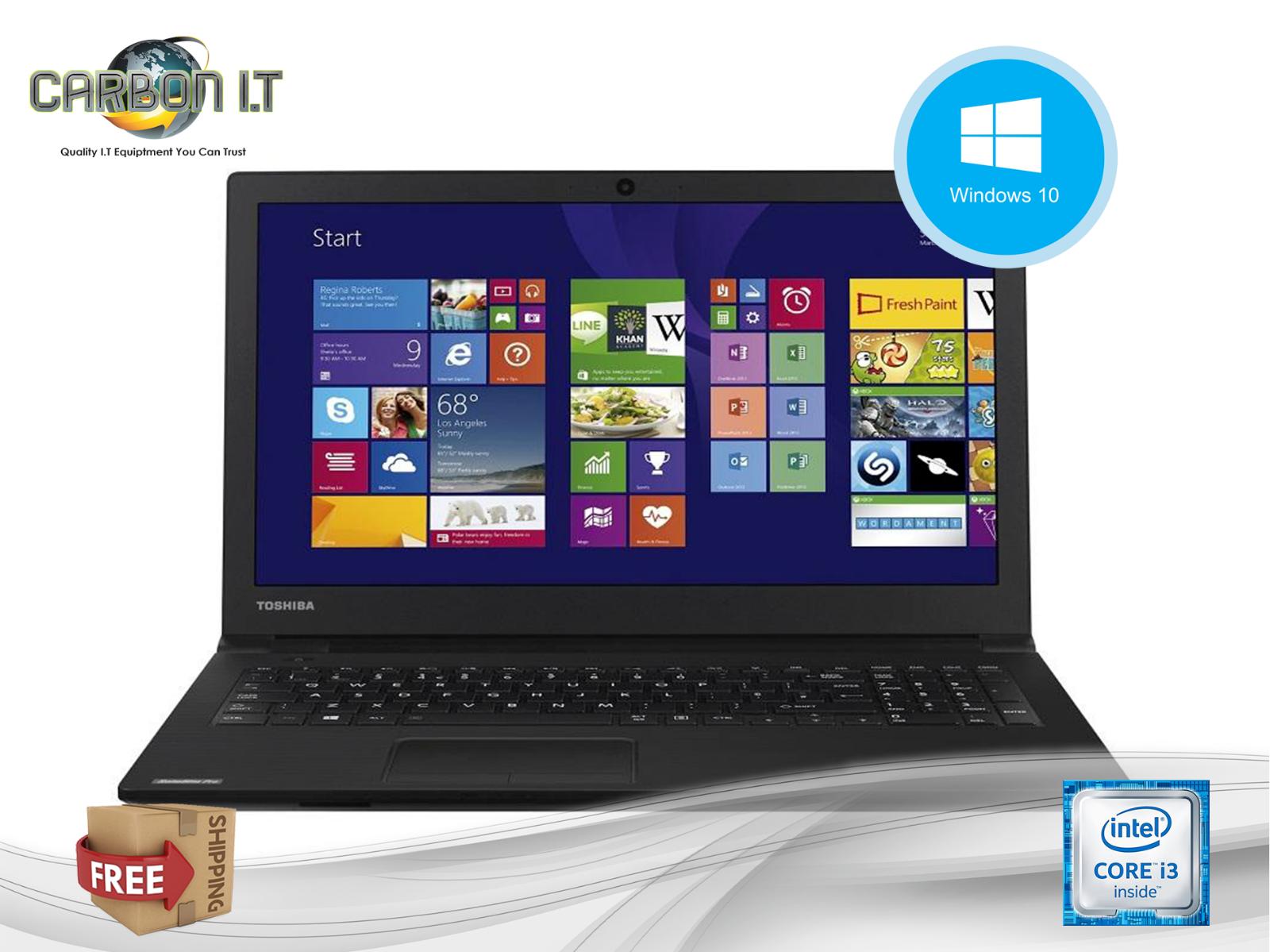 "Laptop Windows - Cheap Refurbished Windows 10 15.6"" Laptop Toshiba Satellite Pro R50 i3 4GB 500GB"