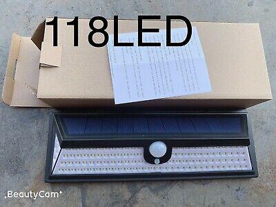 118LED Solar Lights Outdoor Wireless Motion Sensor Wall Yard Garden Pathway Lamp ()