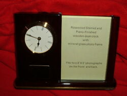 US Steel Rosewood Desk Clock Picture Frame NEW USX USS Office Den