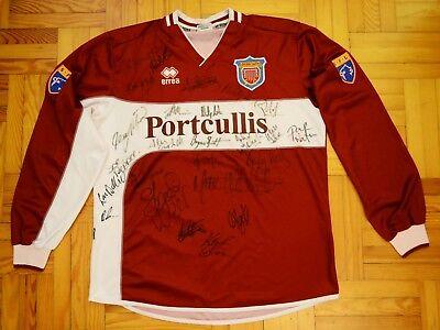 Arbroath FC, Scotland, Home football Shirt Errea, #17 Player Issue, Autographs image
