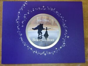 Disney's Beauty and the Beast Lithograph set 2002 Disney Store Retired 4 PC Set