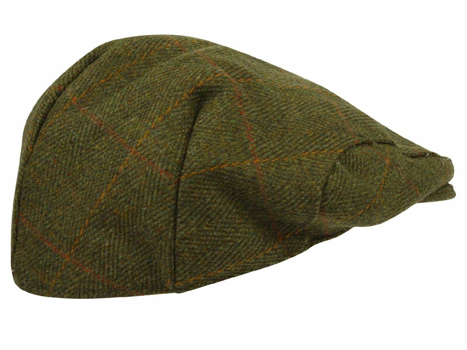 Tweed Flat Cap Wool Mens Derby Shooting Hat Teflon Coated Hunting ... db8eb04e690