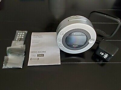 Sony ICF-CD3iP Dream Machine CD-R/RW Player Alarm Clock Radio iPod iPhone Dock