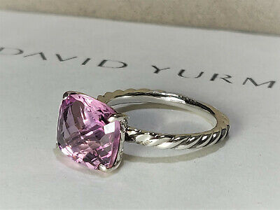 David yurman Color Classics Ring with 12x9mm Pink Morganite, size 9