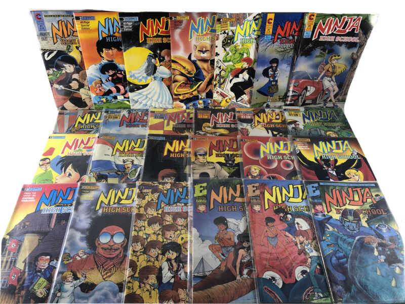 Ninja High School Spans 1-34 Eternity Comics Lot Of 25 1-21 30 31 34