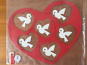 Danish handmade wall hanging heart with birds Albert Park Port Phillip Preview