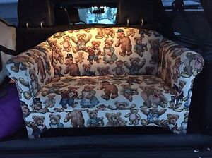 Kids Couch with teddy bear pattern