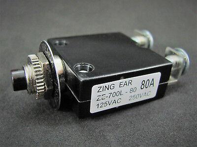 80a Push Button Thermal Circuit Breaker W Reset - 12 50vdc 125-250vac
