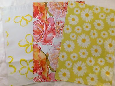 30 10x13 Designer Yellow Flower Mailers Poly Shipping Envelopes Boutique Bags
