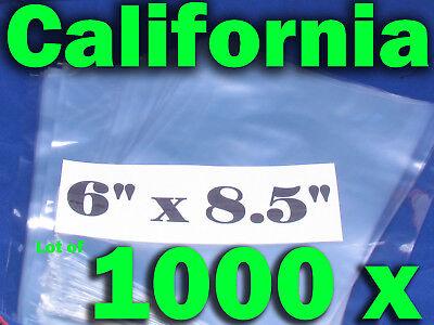 Lot Of 1000 Piece Heat Shrink Wrap Film Flat Bags 6x8.5 Candles Pvc 6 X 8.5