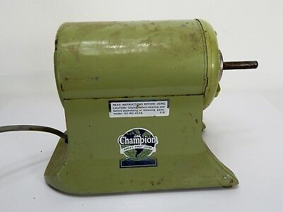 The Champion Worlds Finest Vintage Juicer General Electric USA (Watch Video)