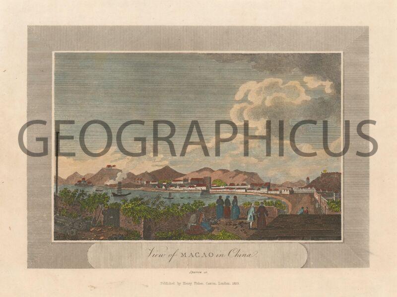 1823 SPARROW VIEW OF MACAO / MACAU, CHINA